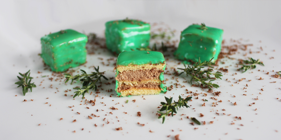 thymian schokolade petitfour