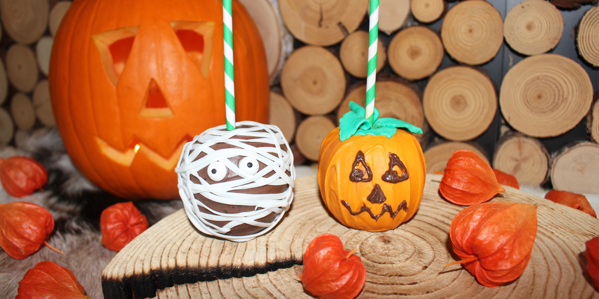 Halloween Schokoäpfel