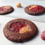 Himbeer- Cookies (VEGAN) mit Dinkel