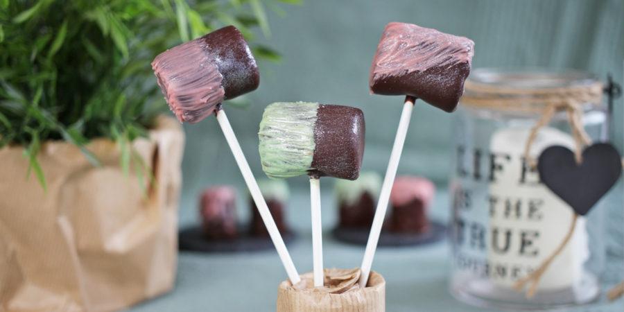 Marshmallows mit Schokolade