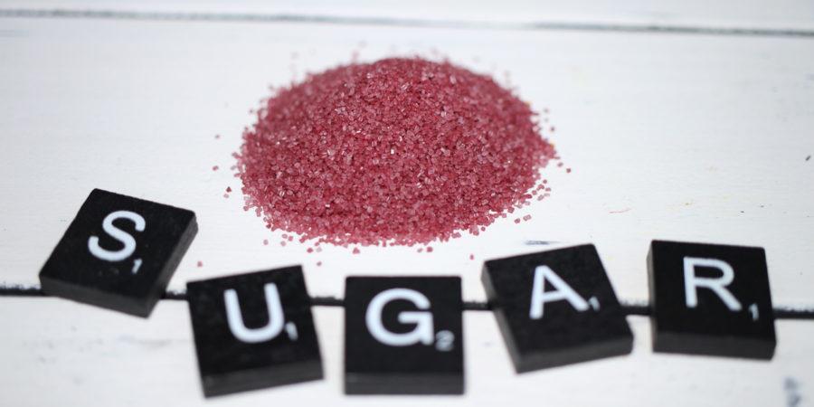 Eingefärbter Zucker