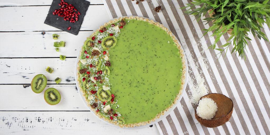 Vegane Kiwi Kokos Tarte