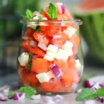 Melonen Feta Salat <br>Sommer pur