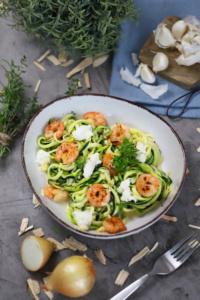 Garnelen mit Zucchininudeln Zoodles