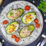 Avocado mit Thunfisch aus dem Ofen