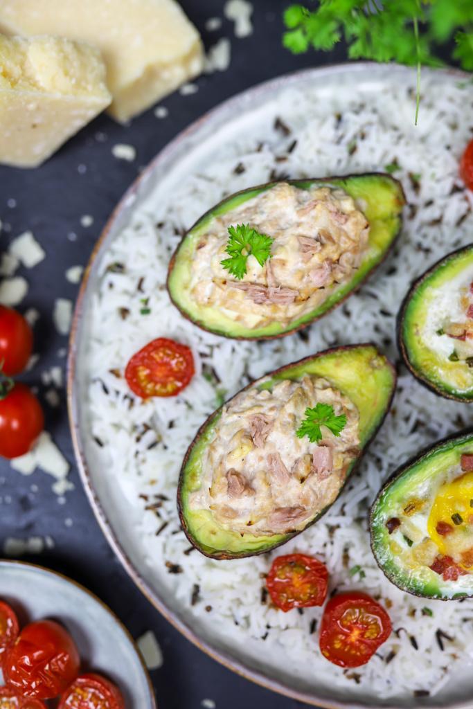 Avocado mit Thunfisch