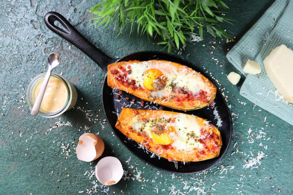 Süßkartoffel mit Ei
