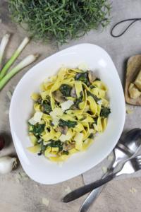 Tagliatelle Spinat & Champignons