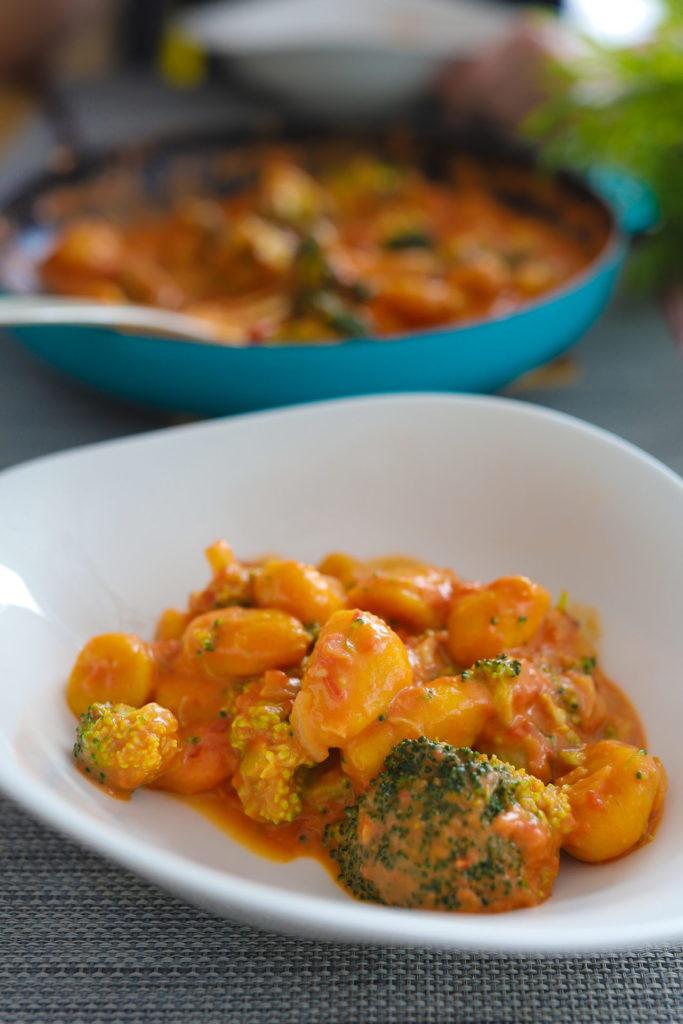 Süßkartoffel Gnocchi mit Brokkoli