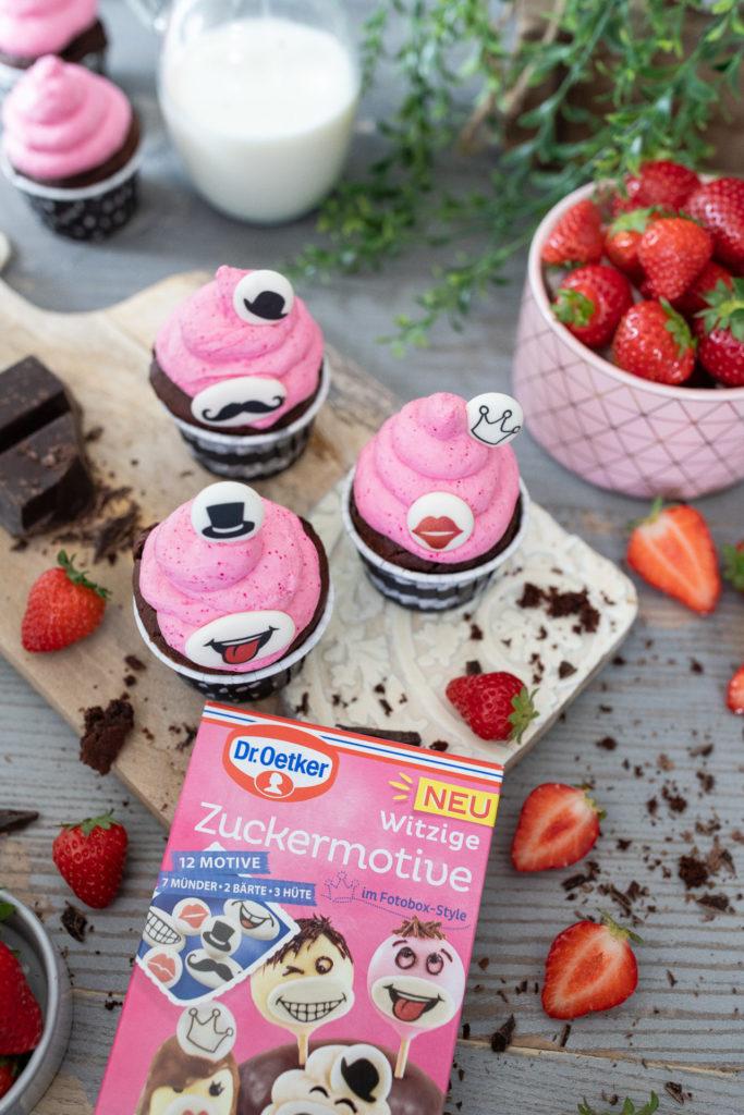 Cupcakes mit Erdbeer Frosting